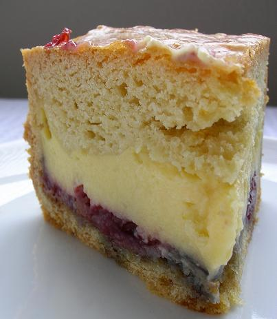 cake with custard filling