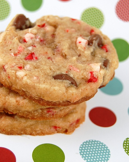 Peppermint Crunch Milk Chocolate Chip Cookies